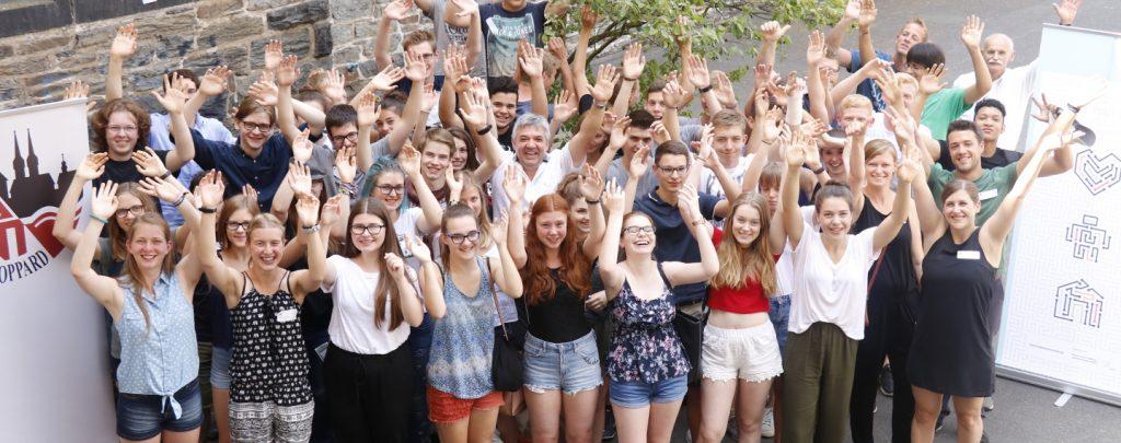Gruppenbild der Schülerinnen und Schüler, die an den Hackdays des Kant-Gymnasiums teilnahmen.